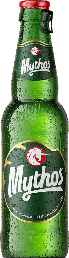 Mythos beer bottle